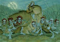 Dree your Weird by Paul Kidby  ~ Crivens! The Nac Mac Feegle!