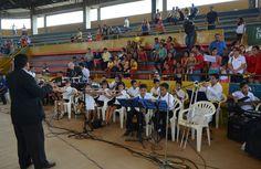 BANDA MUSICAL DEL GAD MUNICIPAL PASAJE CON PRESENTACIÓN ARTÍSTICA DURANTE LA CLAUSURA DE LOS VACACIONALES MUNICIPALES 2015 GAD PASAJE.