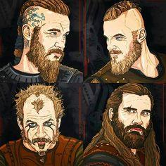 "30 Me gusta, 1 comentarios - Martina Vacca (@mart_mercury) en Instagram: ""I miei vichinghi: Ragnar, Bjorn, Floki e Rollo.  Vi amo❤️ @vikings._ • • • • • #love #TagsForLikes…"""