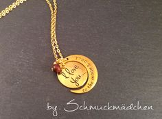 "Kette Lang Gold ""I love you to the moon and back"""