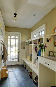 Great mudroom in the back hall --- Interior Design Ideas