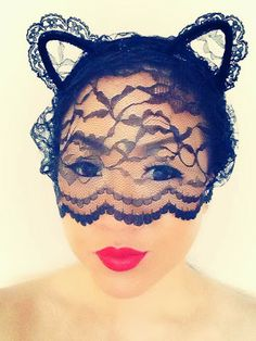DIY Lace Cat Ear Headband- Wear Lace for my sexiness and confidence, wear Gold for my success and prosperity
