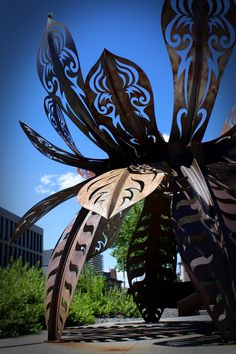 Flower Metal Sculpture - Nevada Museum of Art - Reno, NV - Photo taken by Natalie Lumbo