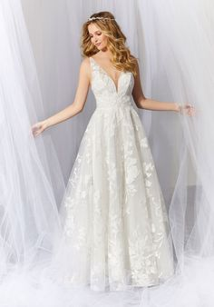 Mori Lee Bridal Wedding Dresses, Wedding Dress Styles, Designer Wedding Dresses, Bridesmaid Dresses, Lace Wedding, Wedding Attire, Garden Wedding, Mori Lee Bridal, Bridal Gallery
