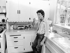 See Clint Eastwood and Richard Gere As You've Never Seen Them Before   VINTAGE GERE   Richard Gere relaxes in a friend's L.A. kitchen during the filming of one his earliest films, Bloodbrothers, in 1978.