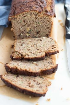 Low carb zucchini walnut bread