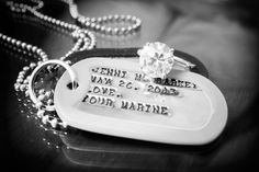 cute idea for military wedding - bridge received this gift from groom the morning of the wedding