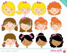 Caras de niño  crear una serie de caracteres  lindo gráfico