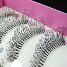 New 50 Pair Handmade False Eyelashes High Quality Lash Eyelash Extension Eye Lashes Makeup Maquiagem