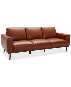 Small Sectional Sofa Genesis Leather Sofa with Brushed Brass Base Leather sofas Seat cushions and Cozy
