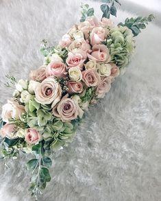 Blush Wedding, Blush Flowers, Pink and Green Color Palette, Blush Green Palette Wedding Table Centerpieces, Wedding Flower Arrangements, Flower Centerpieces, Floral Arrangements, Wedding Bouquets, Wedding Decorations, Wedding Ideas, Wax Flowers, Blush Flowers