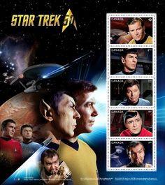 Марка: Star Trek mini sheet 5 stamps (Канада) (Star Trek 50th Anniversary) Sn:CA 2912,Yt:CA F3239,Sg:CA MS3207