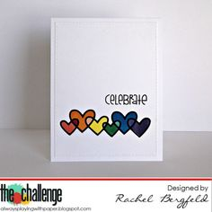 RBergfeld Card Designs: The Challenge 69 -  Paper Smooches, Linked Hearts