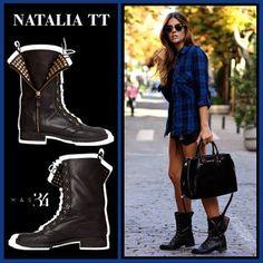 Botas Natalia TT piel negra MAS34 http://www.mas34shop.com/tienda/natalia-trendy-taste/