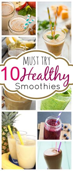 I absolutely love smoothies!! The 10 BEST Must Try HEALHTY Smoothie Recipes #smoothie #recipe #healthy