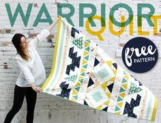 Are you ready to tap into your inner quilt warrior? Then this quilt is for you. It's got a little bitof everything – half square triangles, stripes, swans,bias edges, dragonflies,isosceles triangles, sashing, frogsand more. If you are a newbie quilter, I would suggest putting this pattern in your queue, butattacking it after you've worked with …