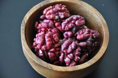 Red walnuts...who knew? Take 8-10 years to be produced, rather than the 1-2 for their brown counterparts.