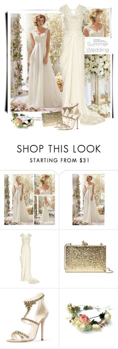 """Summer Wedding"" by sella103 ❤ liked on Polyvore featuring Temperley London, Kate Spade, Oscar de la Renta and summerwedding"