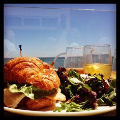 Lunch with a view.  #CarbonBeachClub #MalibuBeachInn #Malibu #oceanfront #dining #beach #ocean #waves #lunch #food