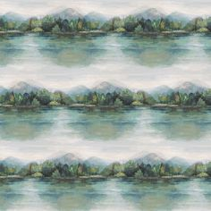 True Colors, Colours, Pewter Grey, Tree Line, Green Wallpaper, Season Colors, Ferns, Hand Painted, Watercolor