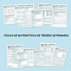 Matemáticas tercero de primaria