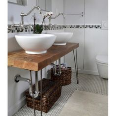 Bathroom vanity with hairpin legs, pretty isn't it? #rumahkubathroom