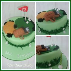 Birthday cake for golf enthusiast