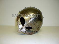 NauticalMart LARP Fantasy Viking Mask Small Helmet for Halloween Costume Knights Helmet, Viking Helmet, Medieval Armor, Ultimate Collection, Larp, Inventions, Vikings, Weapons, Halloween Costumes