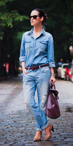 D is for Distressed Boyfriend Jeans - Bittersweet Colours #sstrendguide