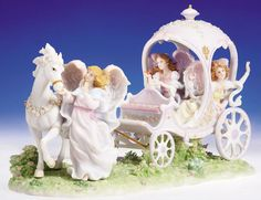 Seraphim Angel Once in a Lifetime Signed 10th anvrsy Roman Inc horse carriage