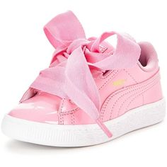 Puma Basket Heart Patent Children ($49) ❤ liked on Polyvore featuring shoes