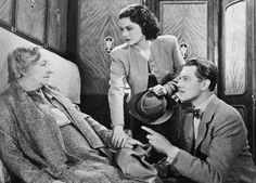 The Lady Vanishes (1938). Directed by Alfred Hitchcock and starring Margaret Lockwood, Michael Redgrave and Dame May Whitty.