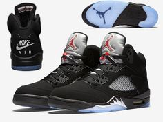 4341ca8f864355 Air Jordan Retro 5 OG Black Metallic Silver Men Basketball Shoes  AAA
