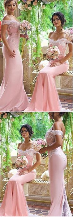 Off the Shoulder Custom Made Bridesmaid Dresses,Bridesmaid Dresses,Bridesmaid Dresses On Sale