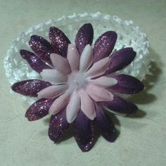 Pink and purple flower headband $3.99