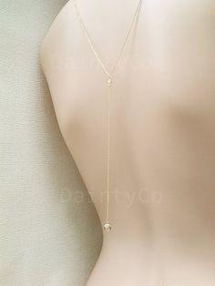 Simple retour Collier goutte dos toile de fond collier robe dos nu robe dos ouvert bas collier mariée mariage demoiselle d'honneur bijoux minimaliste