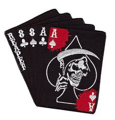 BY MILTACUSA Boba Fett PAID TO KILL Ace Spade Dead Card Patch 3D PVC Rubber-Z3
