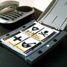 The FotoDialer is a device that was designed for individuals experiencing a variety of different conditions in order to operate a telephone. The FotoDialer is a simple device that has the ability to program 24 telephone numbers and relates them to large images that are placed within the pages.