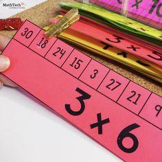 7 activities to practice multiplication – Math Tech Connections Math Resources, Math Activities, Multiplication Practice, Multiplication Strategies, Math Intervention, Math Practices, 4th Grade Math, Homeschool Math, Math Facts