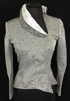 Silver Abstract Jacket by Berry Fit ~ Ladies Small – Just Peachy