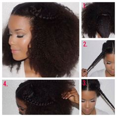 Natural Hair Flair: Styling with accent braids (DIY) | the LAYER