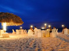 Passions on the beach in aruba. 90% sure this is where our wedding reception will be =)