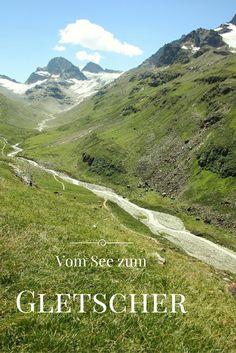 Eine Wanderung vom Stausee zum Ochsentaler Gletscher unterhalb des Piz Buins im Silvrettagebirge