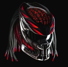 Excited to share the latest addition to my shop: Predator Helmet Motorcycle Red Code Custom DOT & ECE Certified Motorcycle Events, Custom Motorcycle Helmets, Custom Helmets, Women Motorcycle, Biker Helmets, Half Helmets, Motorcycle Touring, Motorcycle Gear, Predator Helmet