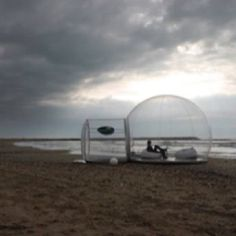 See through tent, perfect for stargazing.