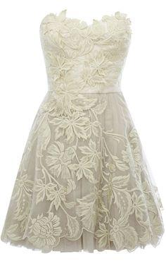 rehersal dress! Karen Millen Romantic embroidery dress ivory [DN163_W] - $137.80