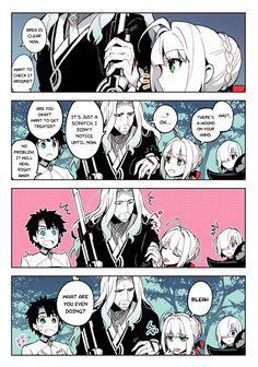 Fate/Grand Order Vlad III & Nero Claudius, Mashu Kyrielight