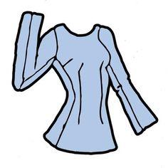 ... Střihy na oblečení  ...: Halenka, základní střih