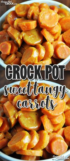 These Crock Pot Sweet Tangy Carrots have a surprisingly unique and delicious flavor