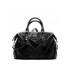 Coach Madison Diagonal Pleated Mixed Exotic Juliette ($498) ❤ liked on Polyvore